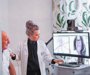 Läkarbesök med VERAs digitala hälsoplattform.